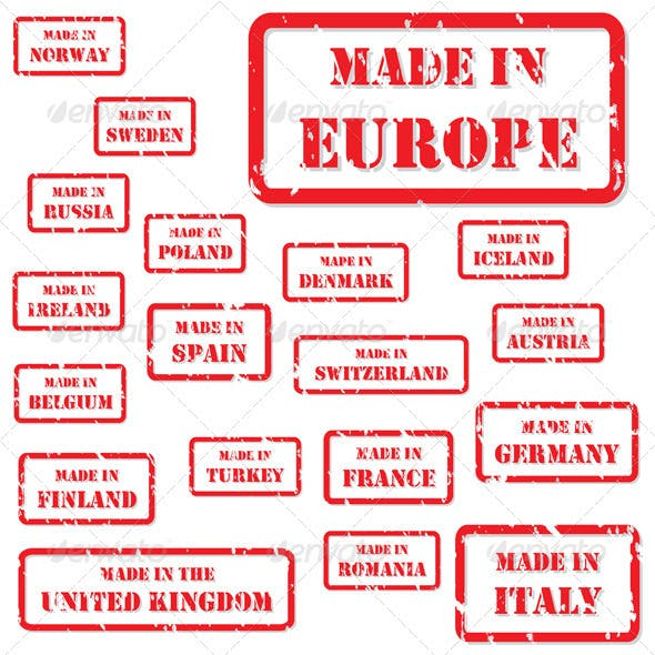 Made in Europe Rubber Stamps