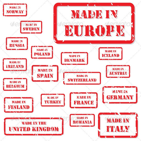 Made in Europe Rubber Stamps - Concepts Business
