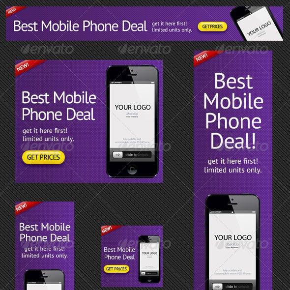 Phone Deals Banner Ad PSD Template