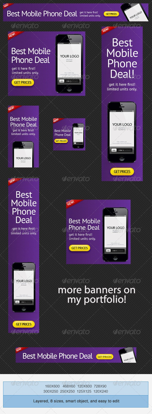Phone Deals Banner Ad PSD Template - Banners & Ads Web Elements