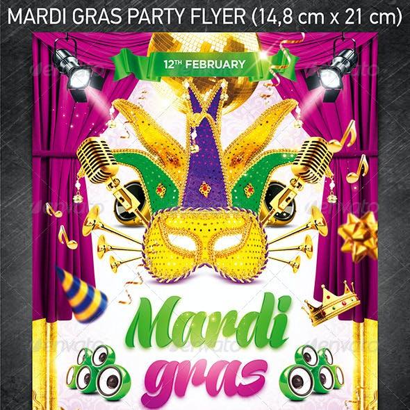 Mardi Gras Party Flyer VOL.1