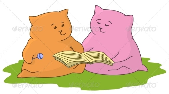 Cartoon Animal Read the Book - Animals Characters