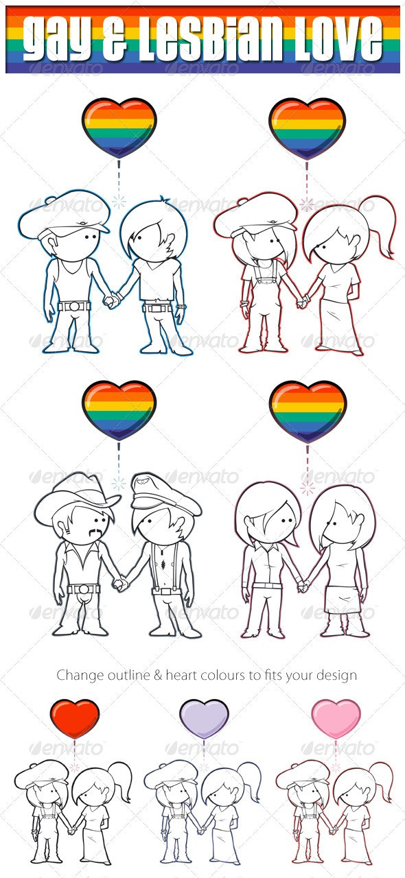 Gay & Lesbian Love - People Characters