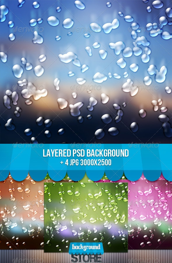 Water Drops Background - Nature Backgrounds