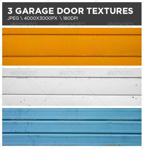 3 Garage Door Textures - Metal Textures