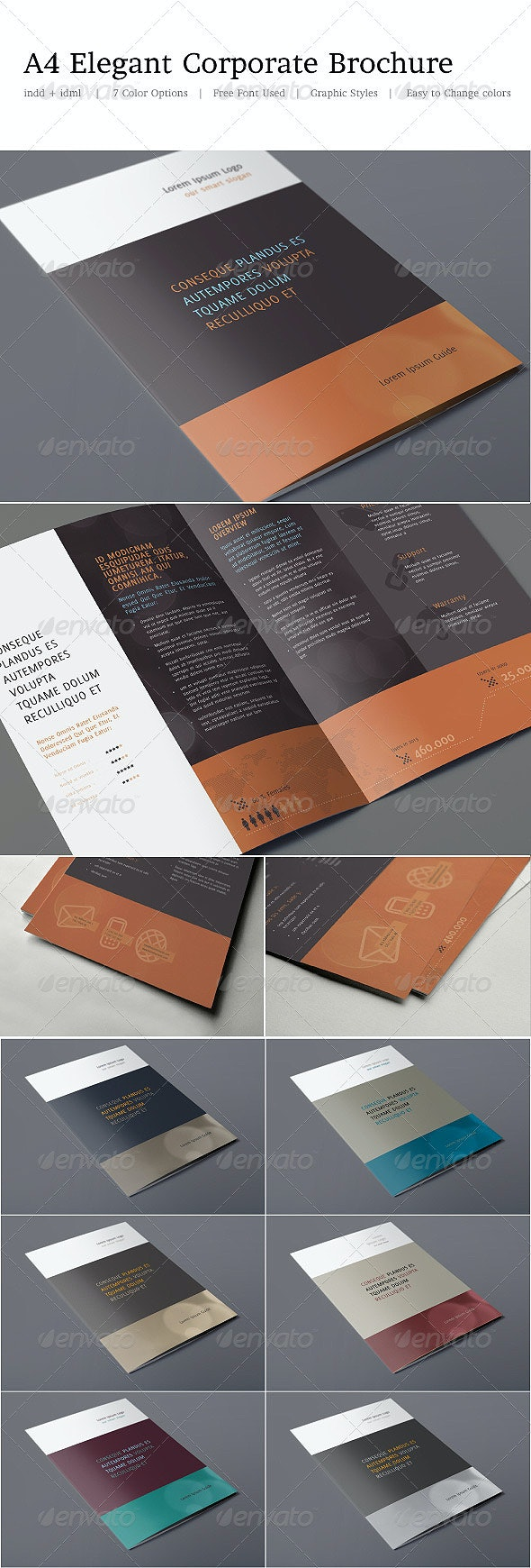 A4 Elegant Corporate Brochure - Brochures Print Templates