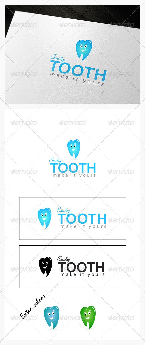 Smiley Tooth - Dental Logo - Objects Logo Templates