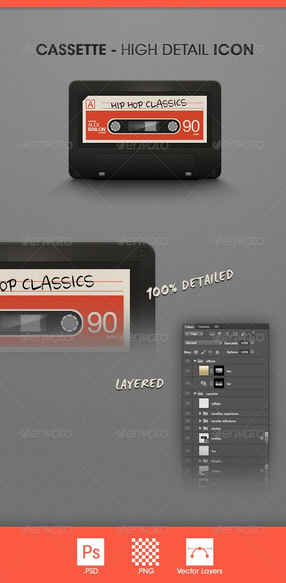 Cassette - High Detail Icon - Objects Icons