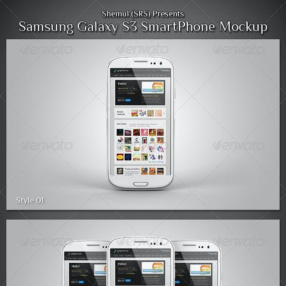 Galaxy S3 Smartphone Mockup