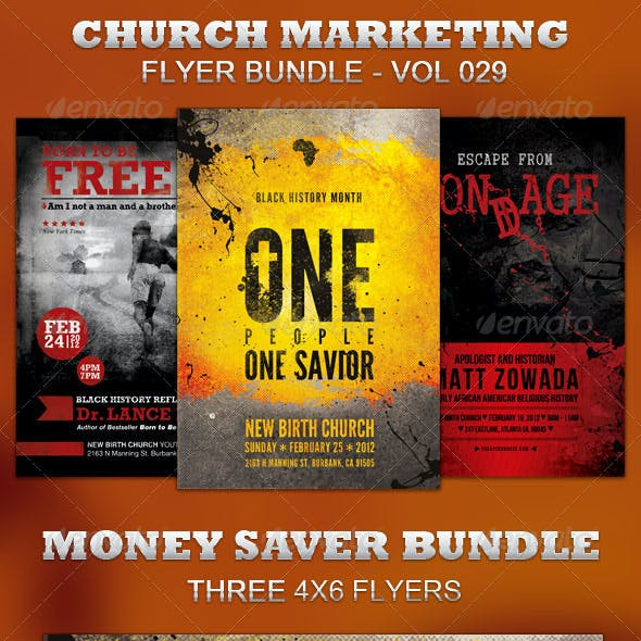 Church Marketing Flyer Bundle Vol 029