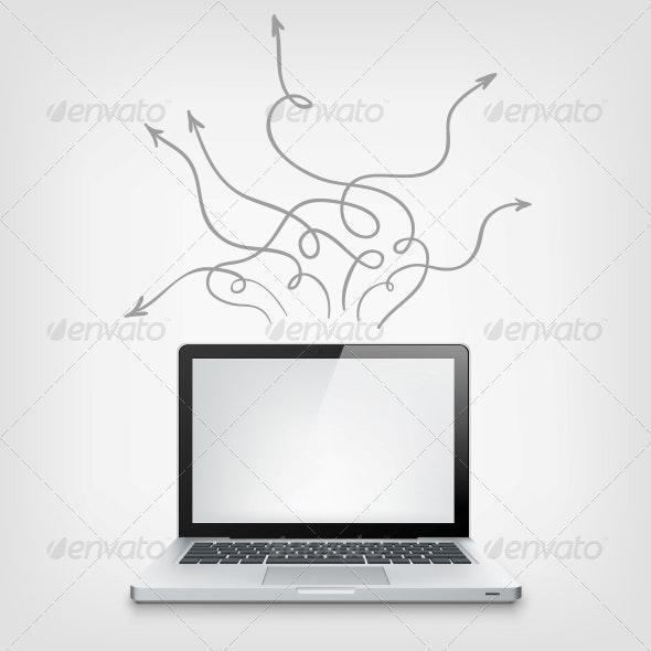 Laptop Concept - Computers Technology
