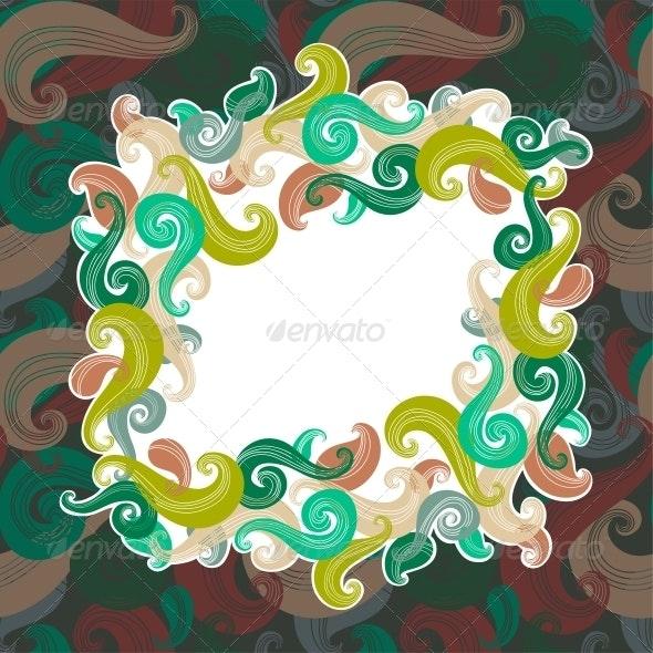 Colorful Wave Frame - Backgrounds Decorative