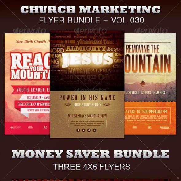 Church Marketing Flyer Bundle Vol 030