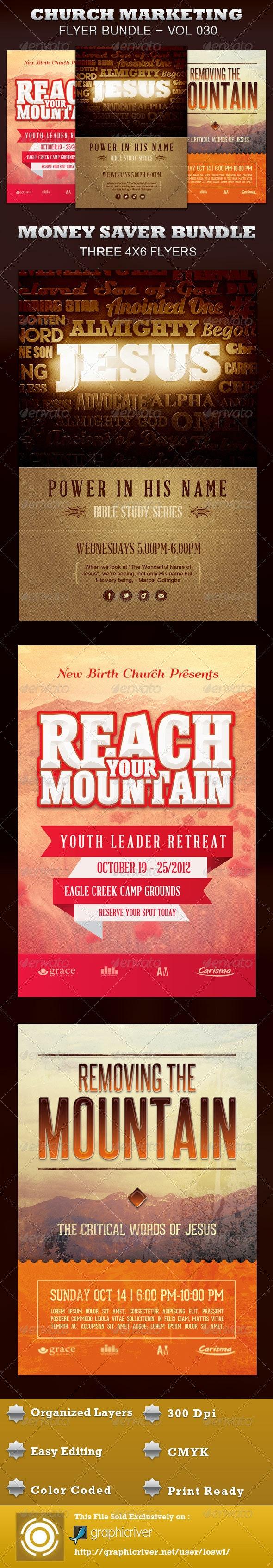 Church Marketing Flyer Bundle Vol 030 - Church Flyers