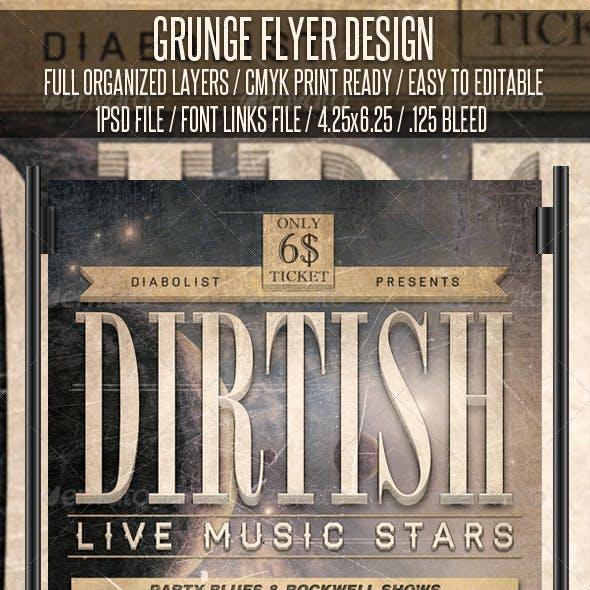 Grunge Flyer Design