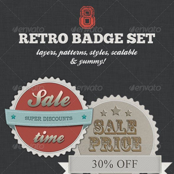 Retro Badge Set - Vintage Shopping With Style