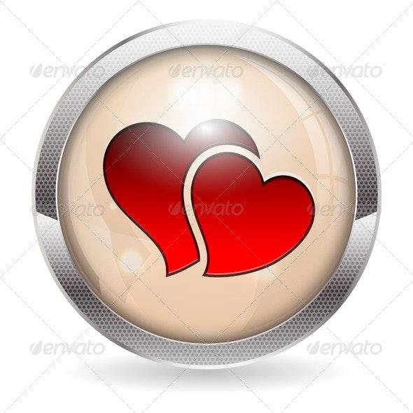 Valentine Button - Valentines Seasons/Holidays