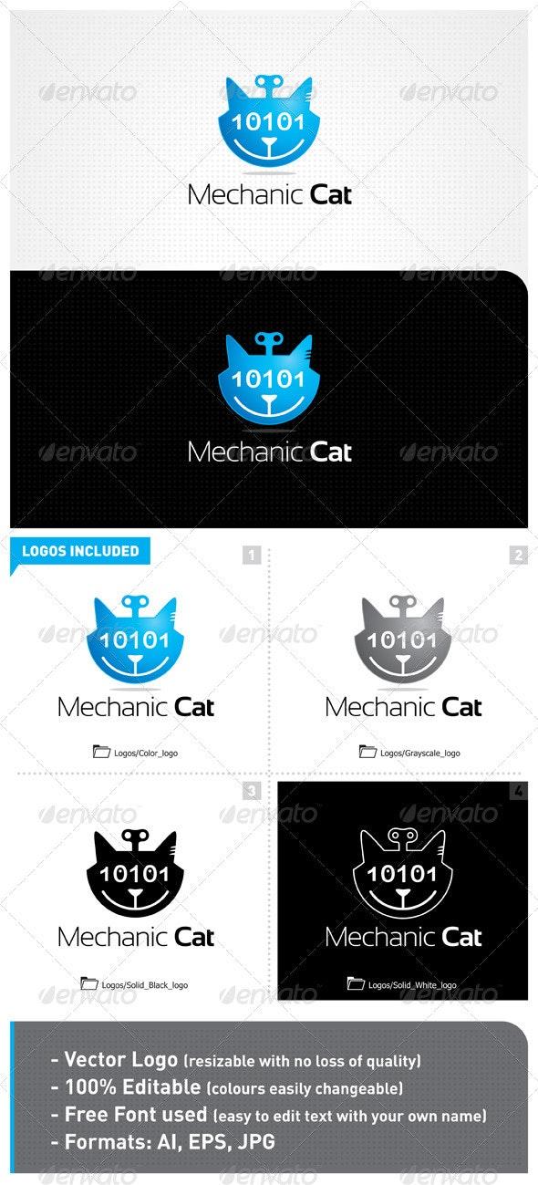 Mechanic Cat Logo - Animals Logo Templates