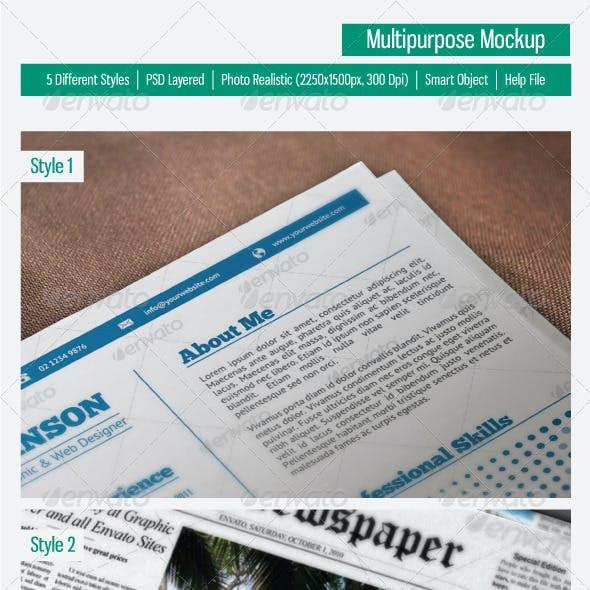 Multipurpose Mock-Up