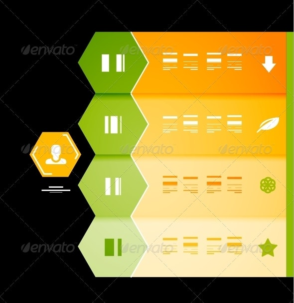 Infographic Numbered Banners - Web Technology