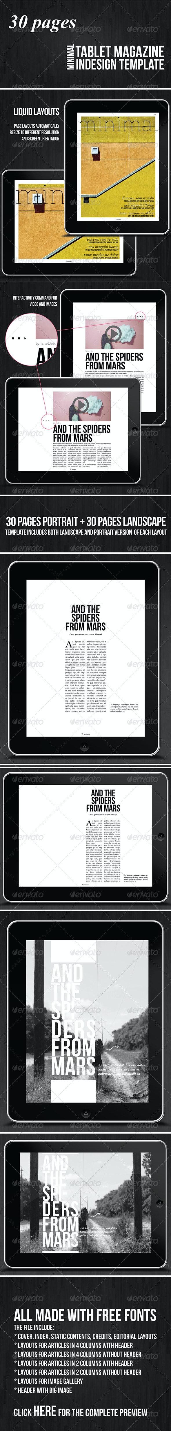 Tablet 30 Pages Minimal Magazine - Digital Magazines ePublishing