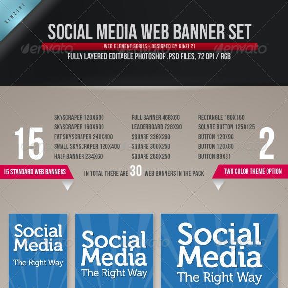 Social Media Web Banner Set