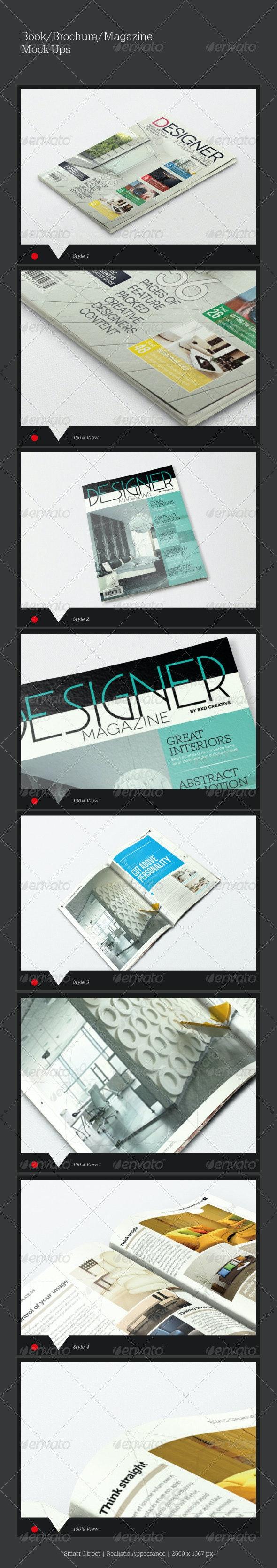 Brochure/Magazine Mock-Ups - Magazines Print