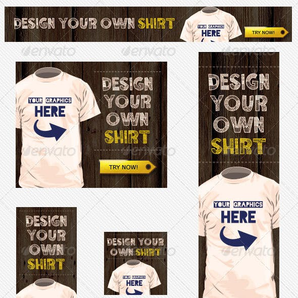 T Shirts Design Banner Ad Template