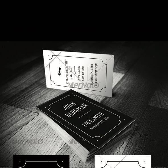 Locksmith Visit Card