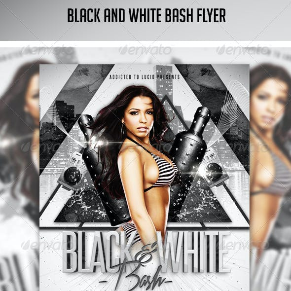 Black And White Bash Flyer