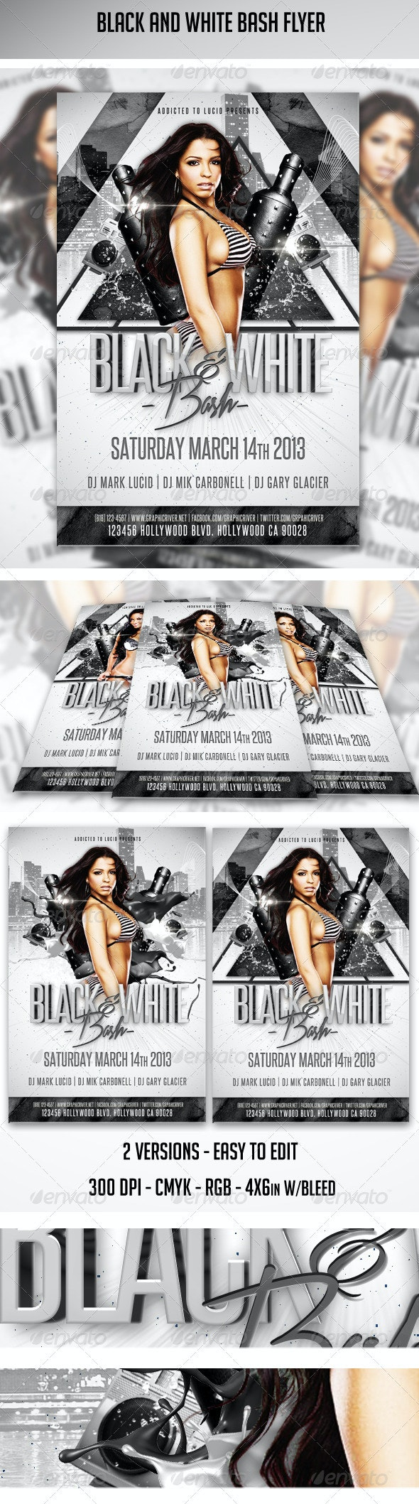 Black And White Bash Flyer - Clubs & Parties Events