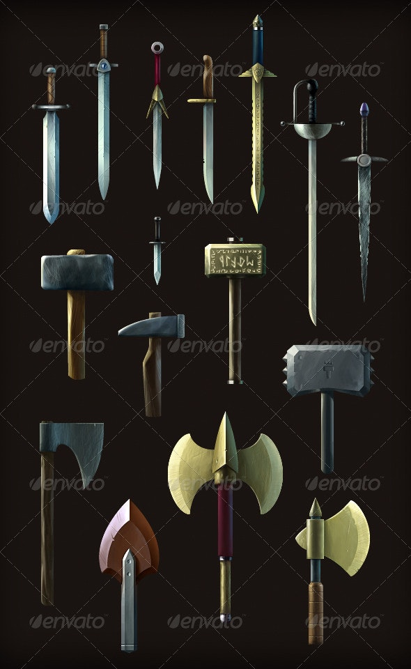 Game Melee Weapon Pack - Sprites Game Assets