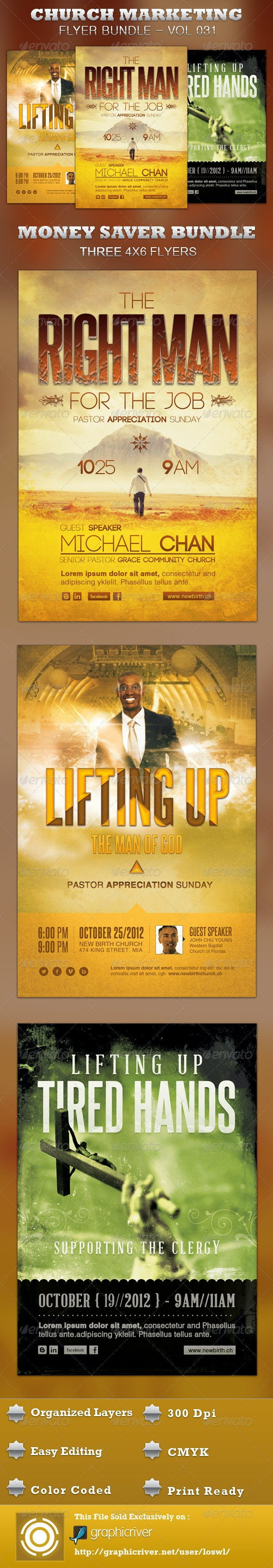Church Marketing Bundle Vol 031 - Church Flyers
