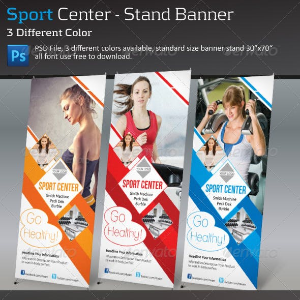 Sport Center - Stand Banner