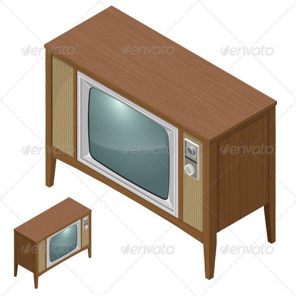 Antique Television - Isometric
