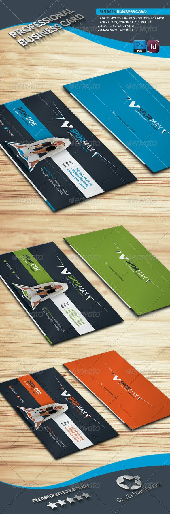 Sports Business Card - Corporate Business Cards