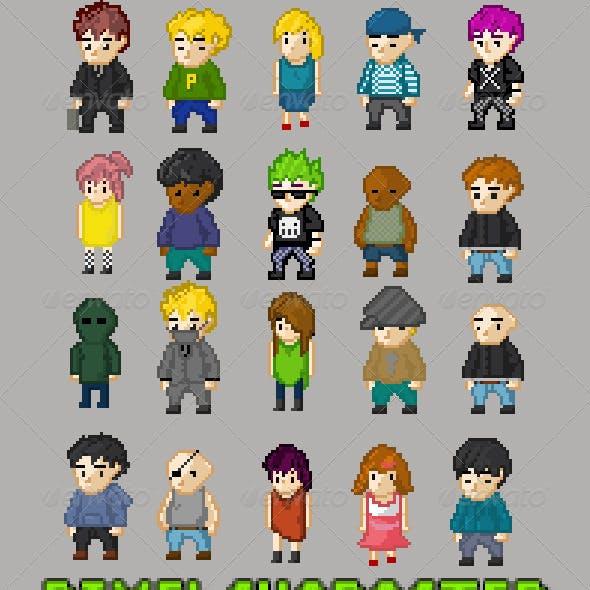 Pixel Character Set