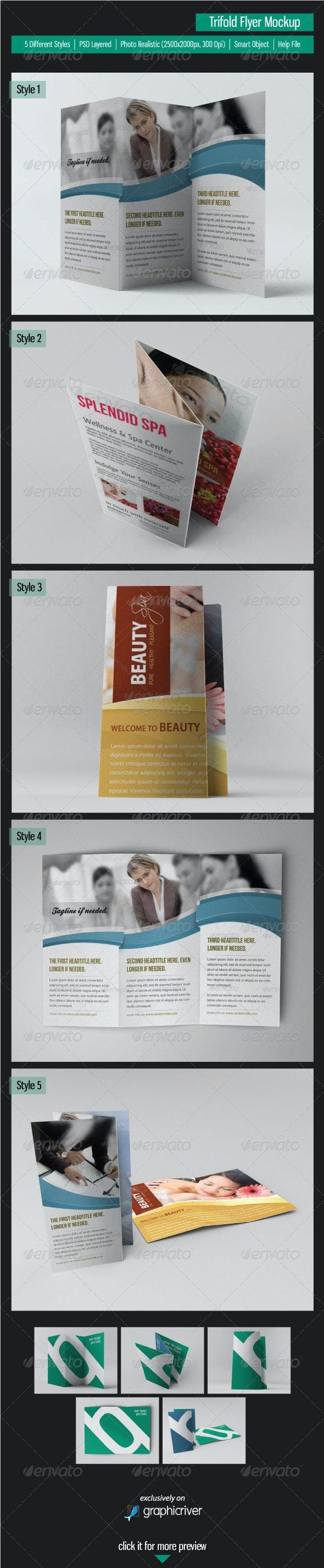 Trifold Flyer Mockup - Brochures Print