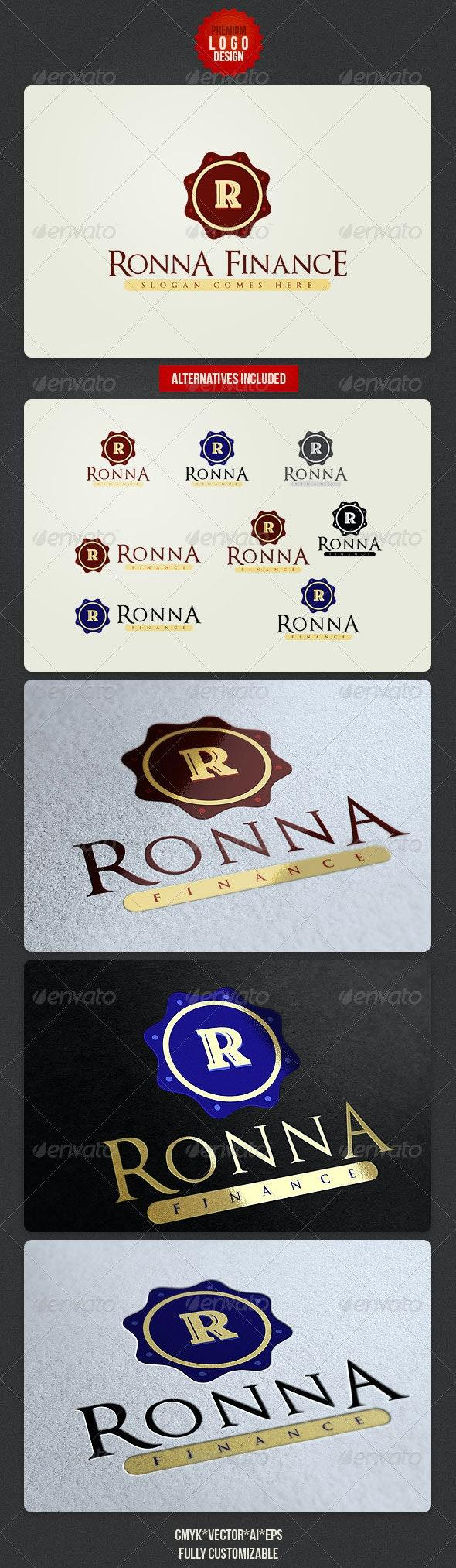 Retro Letter Logo - Letters Logo Templates