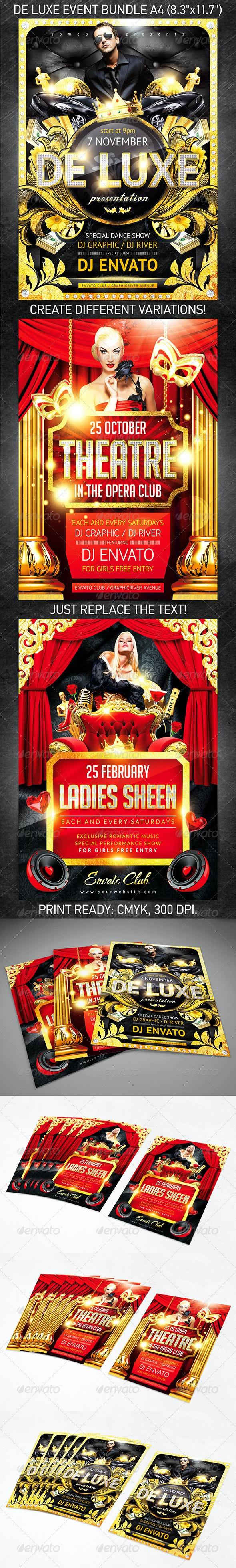 De Luxe Event Poster/Flyer Bundle - Events Flyers