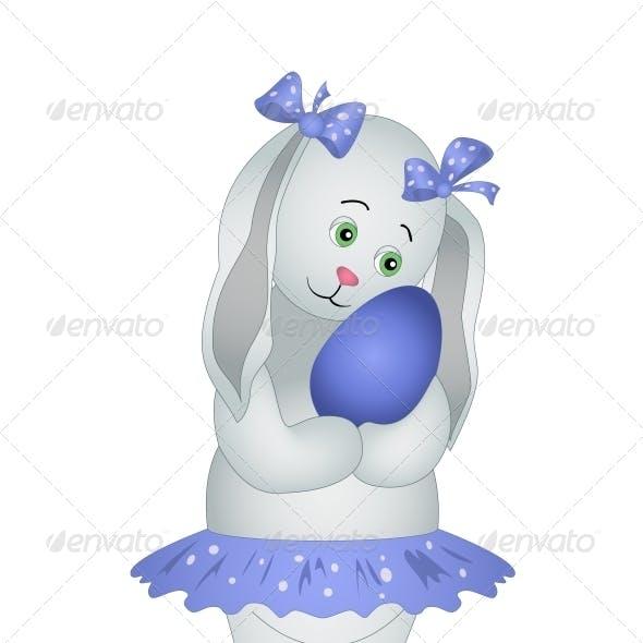 Rabbit girl with Easter egg