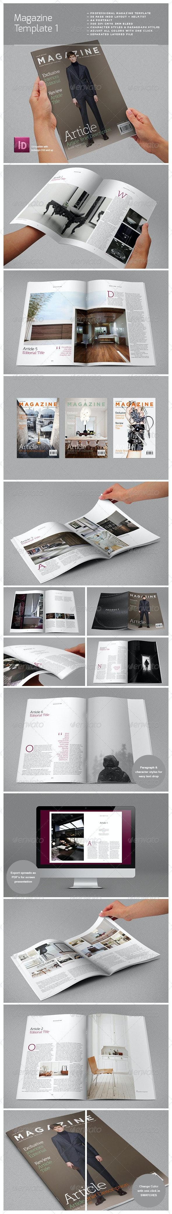 Magazine Complete Template - Magazines Print Templates