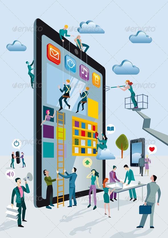 Building Digital Tablets Vertical - Technology Conceptual