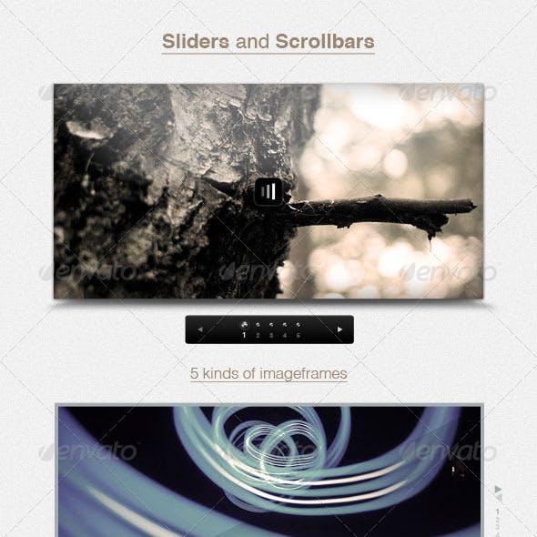 Sliders and 5 Scrollbars