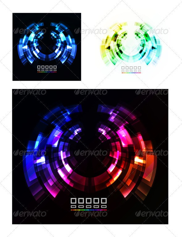 Abstract Technology Vector Background - Backgrounds Business