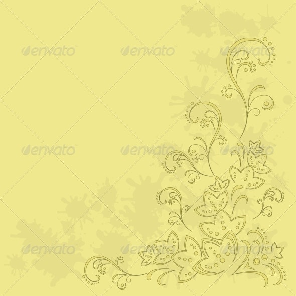 Abstract Flower Background - Patterns Decorative