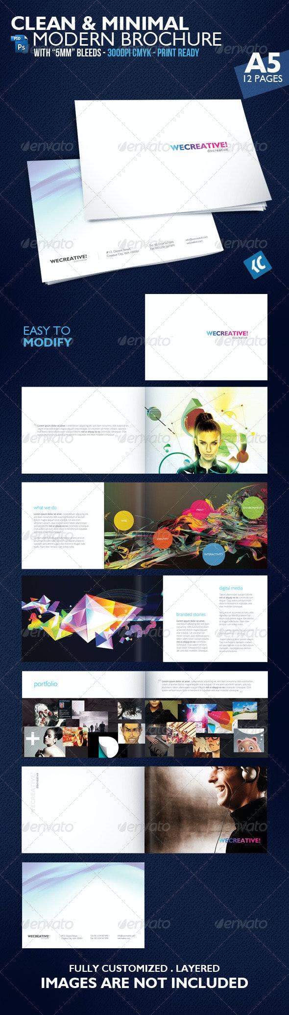 Clean & Minimal Modern Brochure - Corporate Brochures