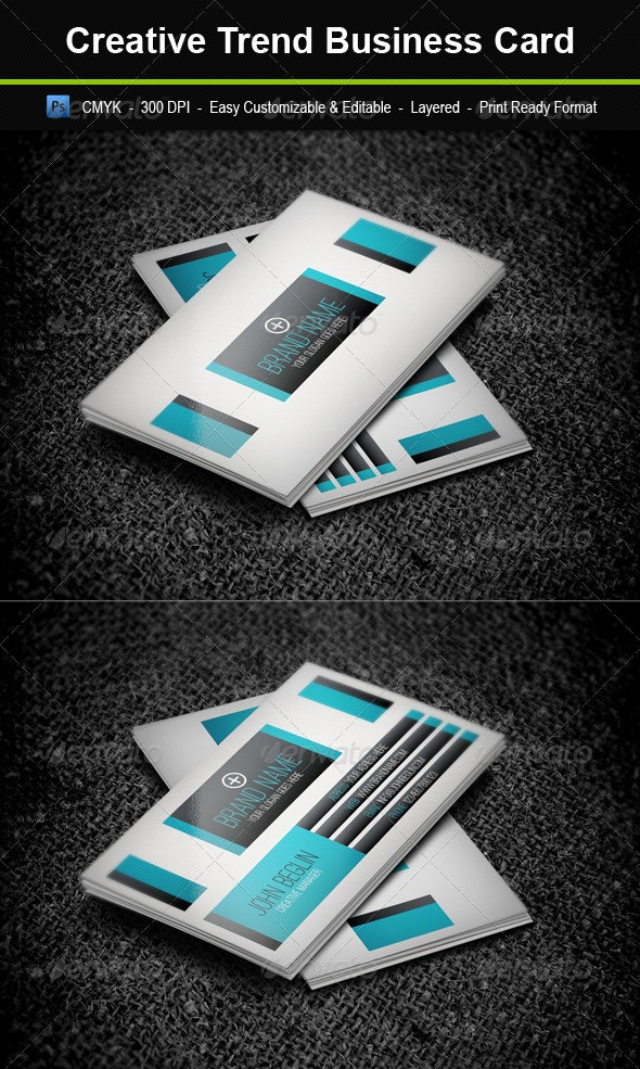 Creative Trend Business Card - Business Cards Print Templates