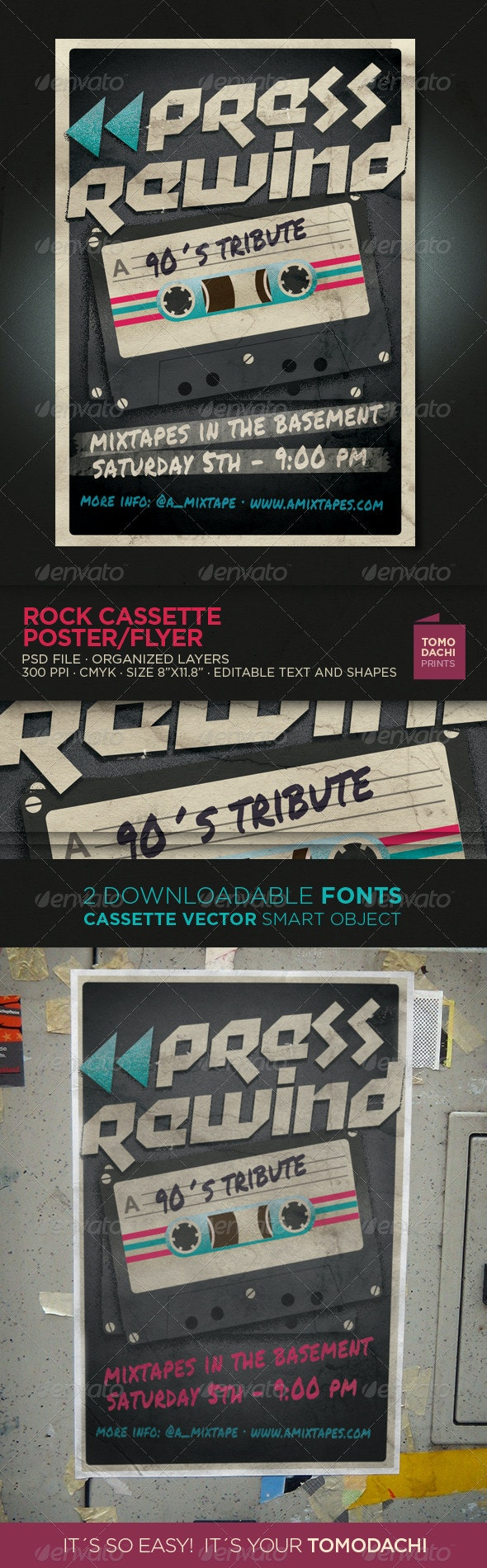 Cassette Tribute Flyer/Poster - Events Flyers