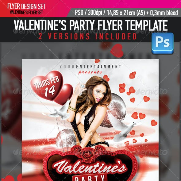 Valentine's Glamour Party Flyer Template